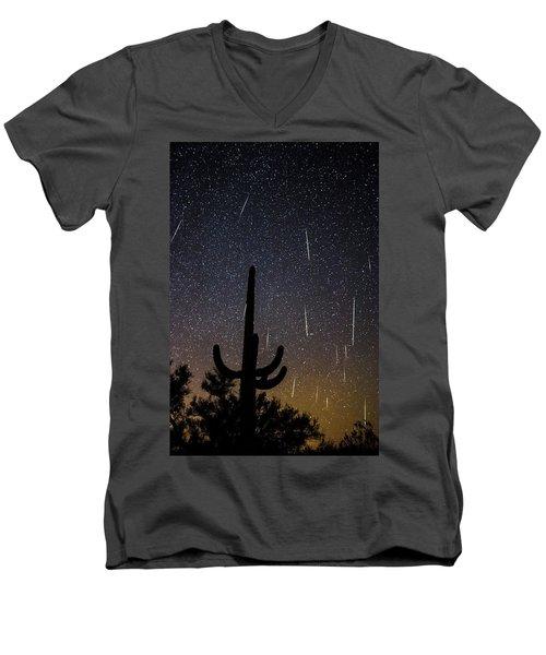Geminid Meteor Shower #2, 2017 Men's V-Neck T-Shirt