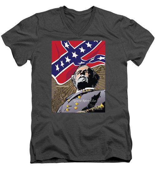 General Robert E. Lee At Appomattox Men's V-Neck T-Shirt