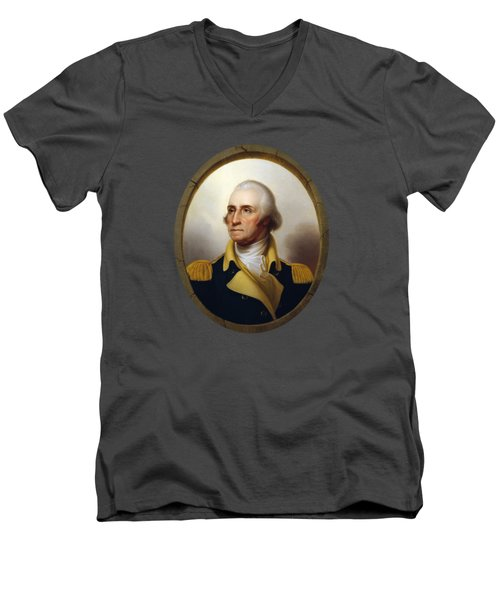General Washington - Porthole Portrait  Men's V-Neck T-Shirt