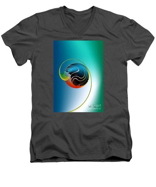 Genesis Men's V-Neck T-Shirt by Leo Symon