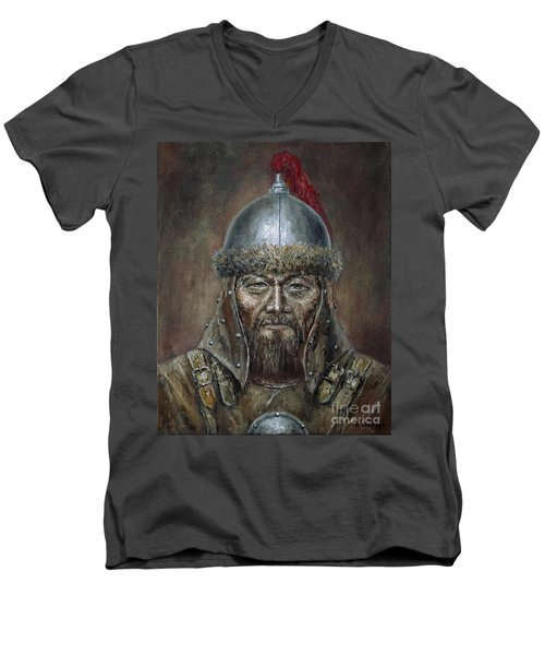 Genhis Khan Men's V-Neck T-Shirt