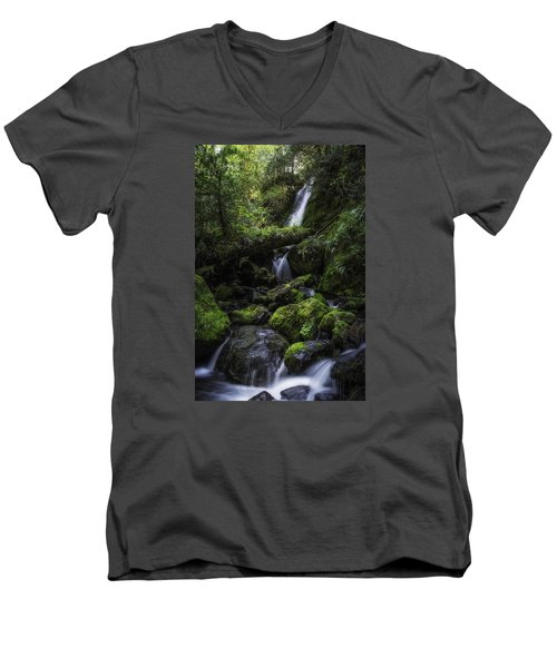 Gentle Cuts Men's V-Neck T-Shirt by James Heckt