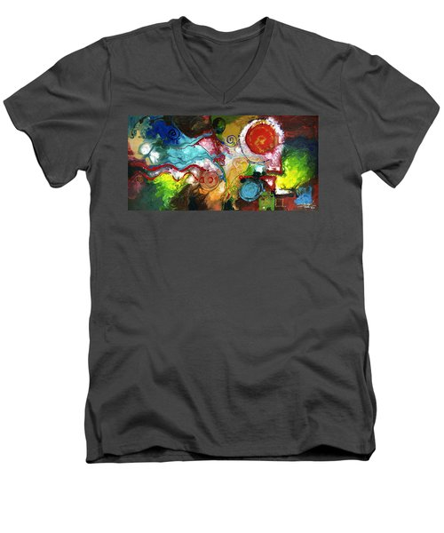 Gentle Persuasion Men's V-Neck T-Shirt by Sally Trace