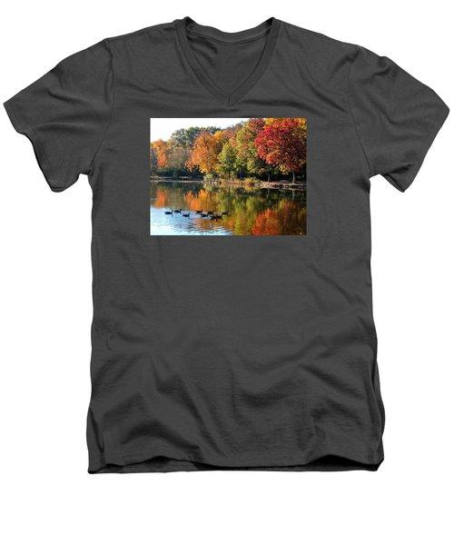 Gentle Reflections Men's V-Neck T-Shirt by Teresa Schomig