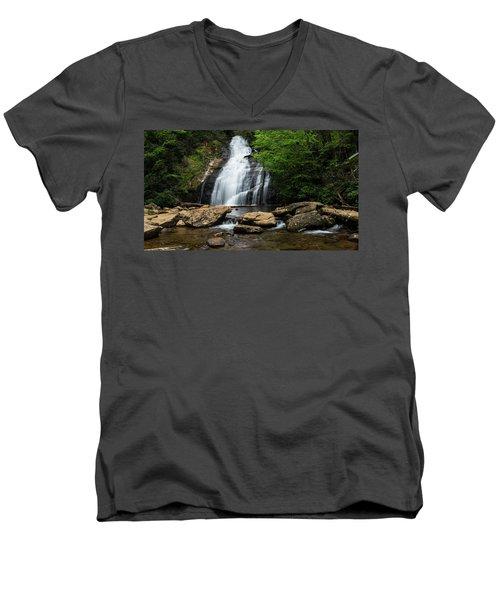 Gentle Waterfall North Georgia Mountains Men's V-Neck T-Shirt