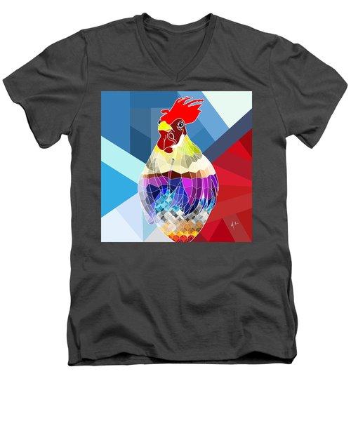 Geo Doodle Doo Men's V-Neck T-Shirt