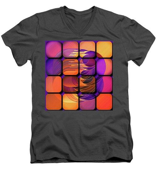 Geo Electric Men's V-Neck T-Shirt