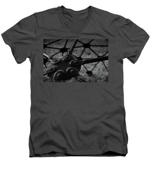 Men's V-Neck T-Shirt featuring the photograph Geodome Climber 2 by Richard Rizzo
