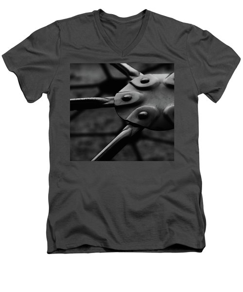 Men's V-Neck T-Shirt featuring the photograph Geodome Climber by Richard Rizzo