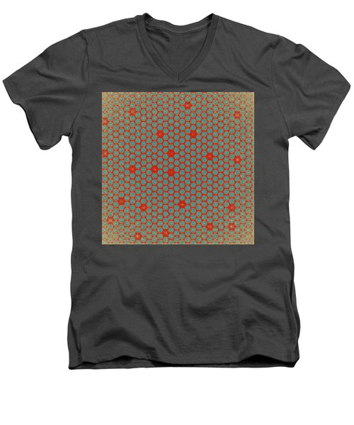 Men's V-Neck T-Shirt featuring the digital art Geometric 2 by Bonnie Bruno