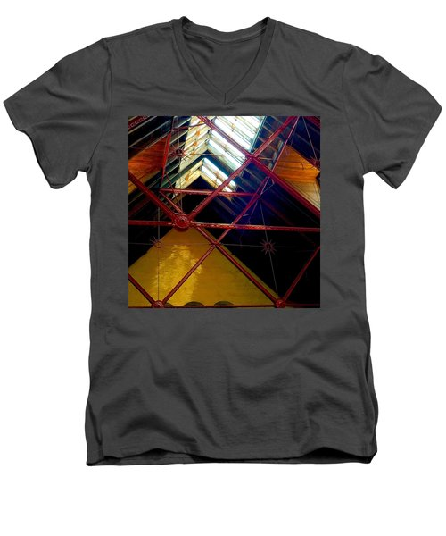 Geometric And Suns  Men's V-Neck T-Shirt