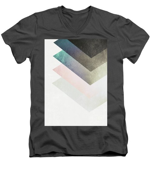 Geometric Layers Men's V-Neck T-Shirt