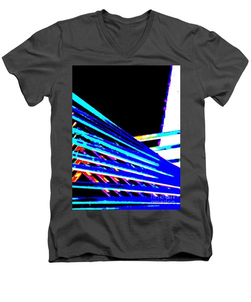 Geometric Waves Men's V-Neck T-Shirt by Tim Townsend