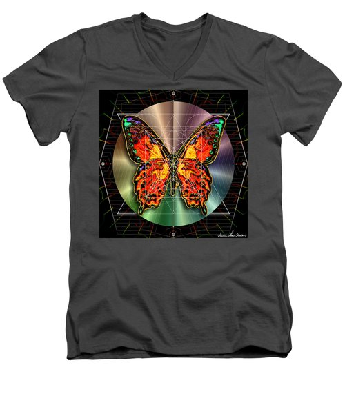 Geometron Fyr Lepidoptera Men's V-Neck T-Shirt by Iowan Stone-Flowers