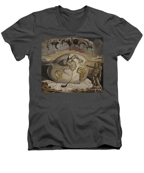 Dali's Geopolitical Child Men's V-Neck T-Shirt