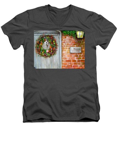 George Michaels Mill Cottage Men's V-Neck T-Shirt