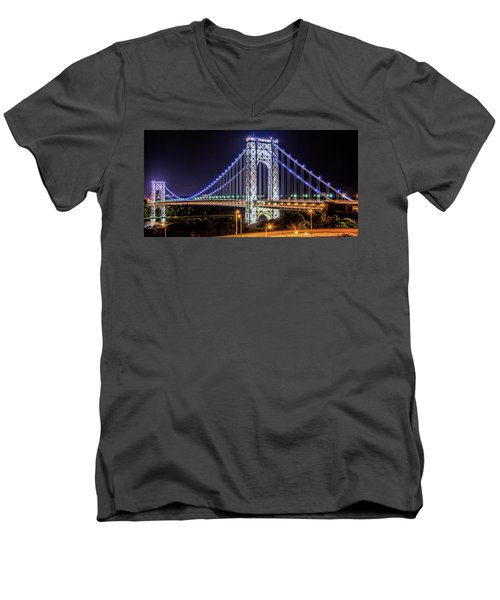 George Washington Bridge - Memorial Day 2013 Men's V-Neck T-Shirt