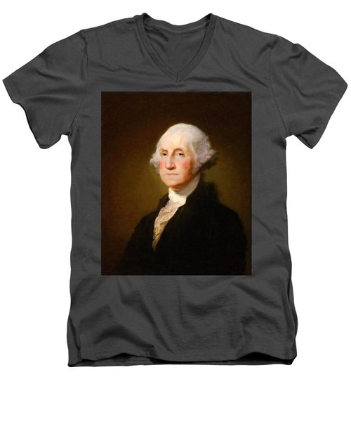 George Washington Men's V-Neck T-Shirt