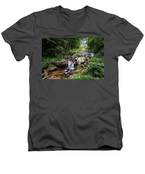 Georgia Mountain Stream Men's V-Neck T-Shirt