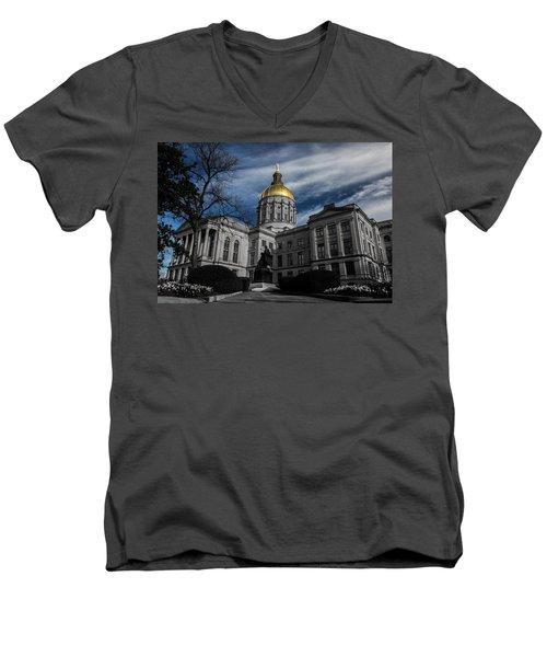 Georgia State Capital Men's V-Neck T-Shirt
