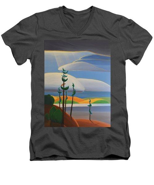 Georgian Shores - Right Panel Men's V-Neck T-Shirt