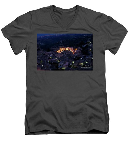 Men's V-Neck T-Shirt featuring the photograph Gerace by Bruno Spagnolo