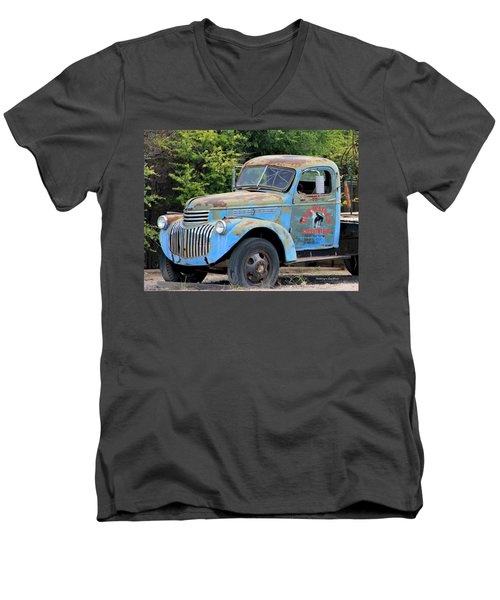 Geraine's Blue Truck Men's V-Neck T-Shirt