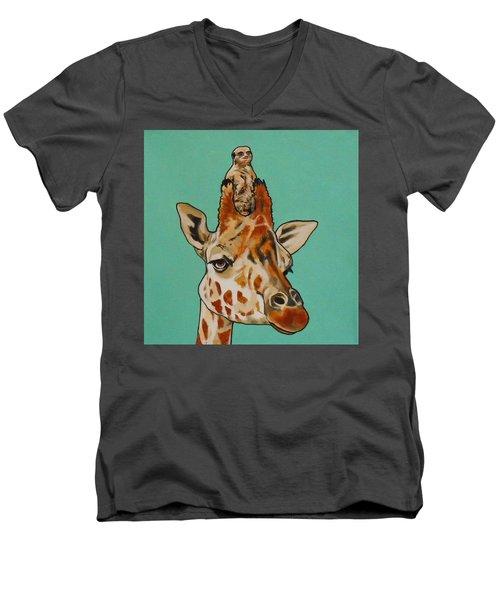 Gerald The Giraffe Men's V-Neck T-Shirt
