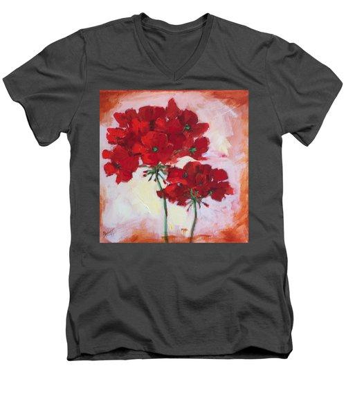 Geranium Men's V-Neck T-Shirt