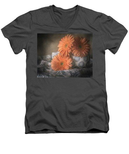 Gerbera Daisy Trio Men's V-Neck T-Shirt