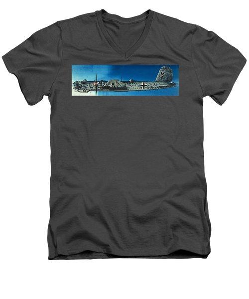 German Aircraft Of World War  Two Focke Wulf Condor Bomber Men's V-Neck T-Shirt