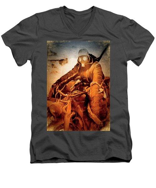 German Biker Men's V-Neck T-Shirt by Michael Cleere