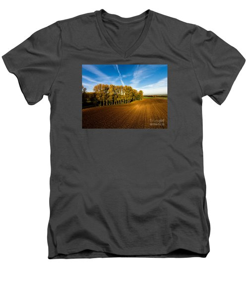 Fields From Above Men's V-Neck T-Shirt