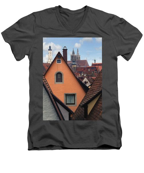 German Rooftops Men's V-Neck T-Shirt
