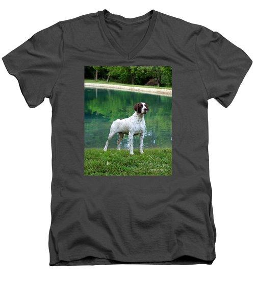 German Short-hair Pointer  Men's V-Neck T-Shirt