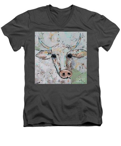 Gertie Men's V-Neck T-Shirt by Kirsten Reed