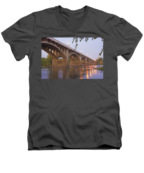Gervais Bridge Men's V-Neck T-Shirt by Steven Richardson
