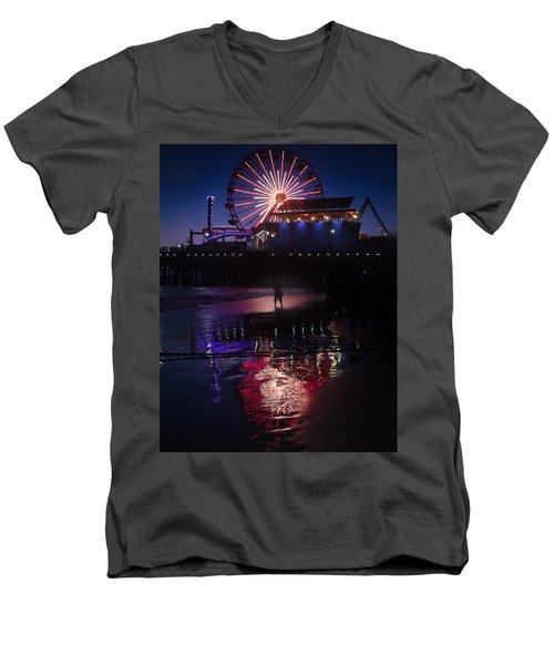 Men's V-Neck T-Shirt featuring the photograph Get The Shot by Lora Lee Chapman