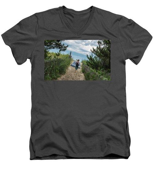 Get To The Beach Men's V-Neck T-Shirt