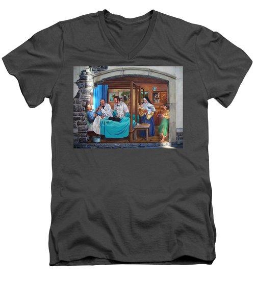 Get Well Soon ... Men's V-Neck T-Shirt by Juergen Weiss