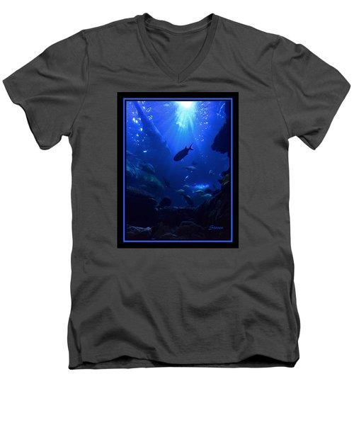 Men's V-Neck T-Shirt featuring the photograph Getting Along by Steven Lebron Langston