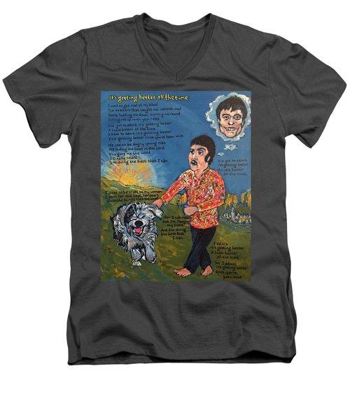 Getting Better Men's V-Neck T-Shirt