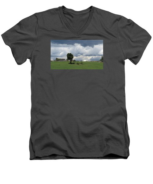 Getting Stormy Men's V-Neck T-Shirt by Jeanette Oberholtzer