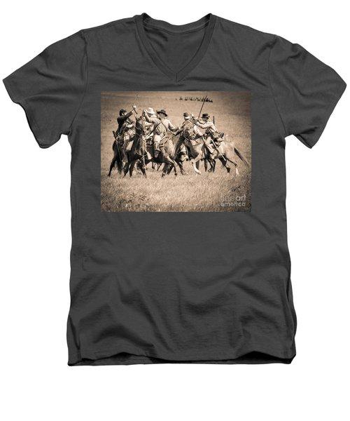 Gettysburg Cavalry Battle 7948s  Men's V-Neck T-Shirt