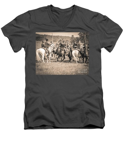 Gettysburg Cavalry Battle 7970s  Men's V-Neck T-Shirt