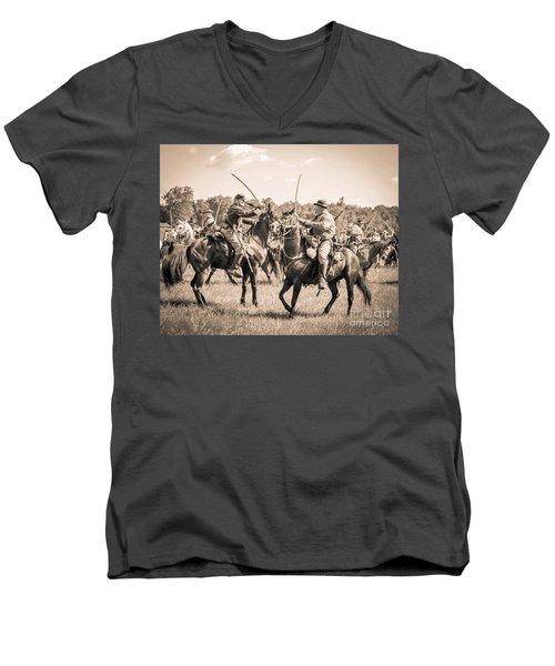 Gettysburg Cavalry Battle 7978s  Men's V-Neck T-Shirt