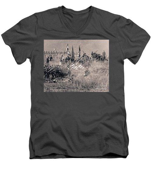 Gettysburg Union Infantry 8963s Men's V-Neck T-Shirt