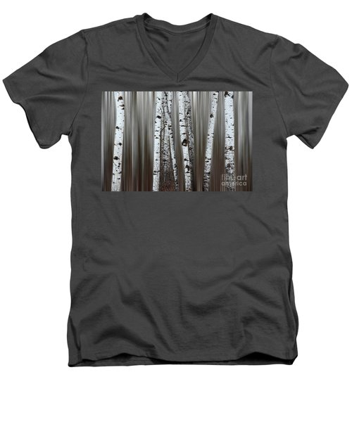 Men's V-Neck T-Shirt featuring the photograph Ghost Forest 1 by Bob Christopher