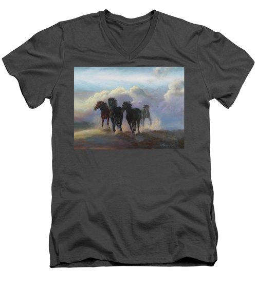 Ghost Horses Men's V-Neck T-Shirt