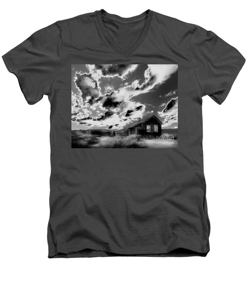 Men's V-Neck T-Shirt featuring the photograph Ghost House by Jim and Emily Bush
